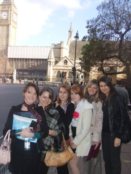 Elizabeth Whatley with Lancaster Students at Westminster