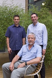 Dr Andy Sweetman, Lancaster University research fellow, Professor Kevin Jones, Director of the Centre for Sustainable Chemical Management, (seated) Professor Peter Matthiessen, CEH, Lancaster