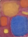 Patrick Heron, Ultramarine, Cinnamon and Dull Yellow, 1960, Oil on paper,