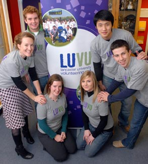 from left:Sarah Hinton and Martha Jennings with LUVU volunteers