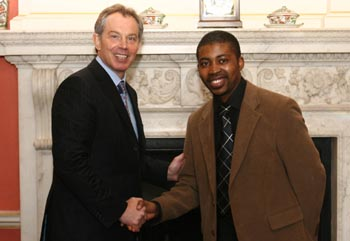 Prime Minister Tony Blair and Akanimo Odon