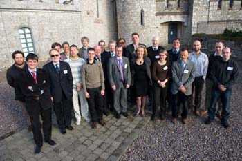 Professor Tony Krier (2nd row with tie and glasses to left of centre) with the photonics research consortium leaders at Blackrock Castle Observatory in Cork for the launch of PROPHET