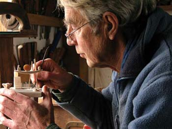 Artist David Gilbert at work