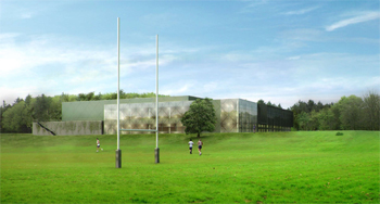 Artists impression of new Sports Centre