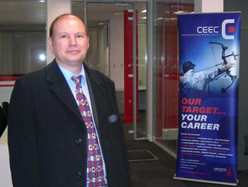 Director of CEEC Paul Blackmore at the new office on Alexandra Square