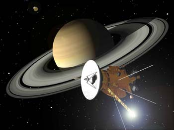 UK Scientists played a major role in the joint NASA/ESA Cassini mission to Saturn (courtesy of NASA)