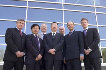 from left:Vince Cunningham, Yu Xiong, Dr Nigel Lockett, Chinese Consul Ding Wenzheng, Mark Underwood, Prof David Brown and David McGhee