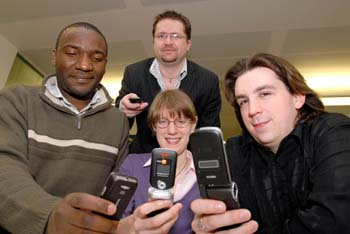 clockwise: Dr Paul Okanda, Dr Reuben Edwards, Andy Cunningham and Elizabeth Phillips