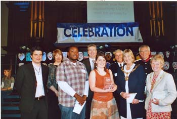 Award ceremony at the Town Hall