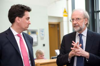Ed Miliband with Professor Graham Harris at LEC