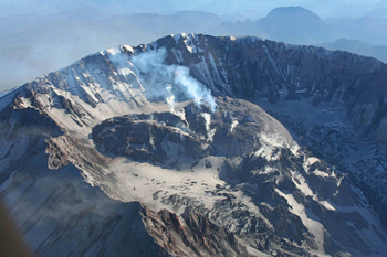 Mount St Helens crater