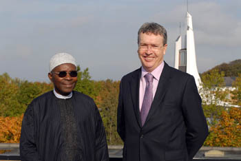 HRH Oba Oladele Olashore with the Vice Chancellor Paul Wellings