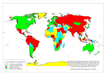 The first ever global map of palliative care
