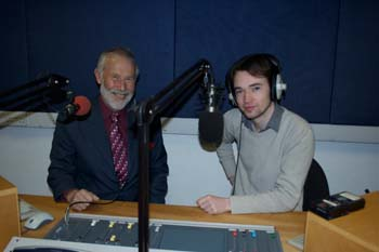 The Chancellor is interviewed by Kenny Donohue of Bailrigg FM:courtesy of Sara Bury