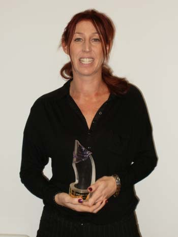 Sarah Goodall with her award
