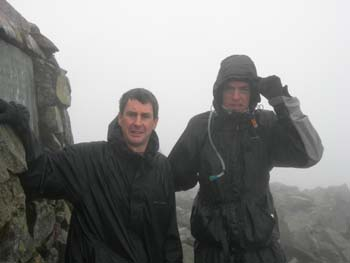John Statter and Ian Mercer at the top of Scafell Pike