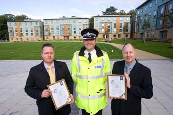 from left: Ian McManus, Chief Supt Tim Jacques and Alan Haycock