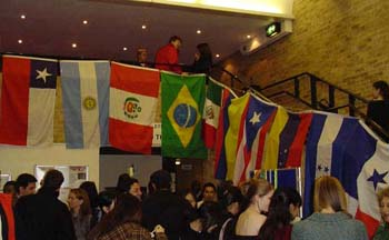 Students at the annual International Evening in the Great Hall